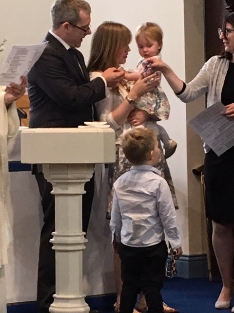 Amelia McCallum's baptism