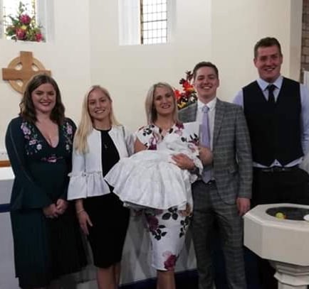 Lily May Skeel's baptism