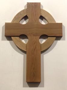 wooden cross in church