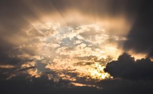 sunshinw through clouds